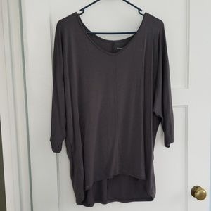 Brown stretchy blouse